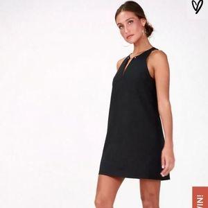 LULU'S - Near or Bar Black Shift Dress
